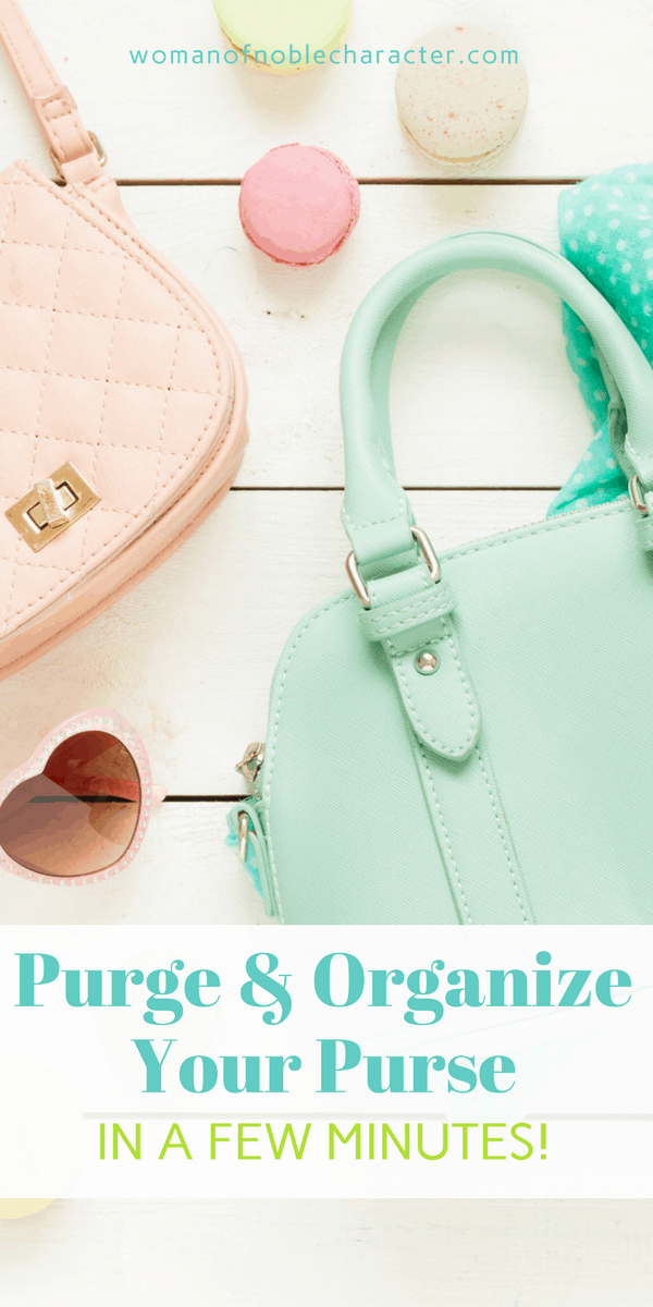 organizing your purse, purse organization