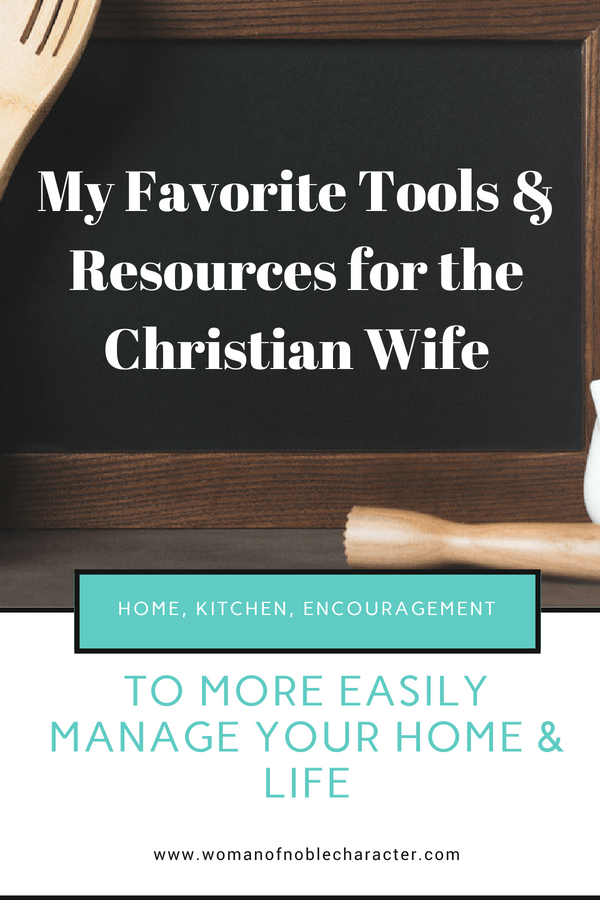 Tools for the Proverbs 31 woman
