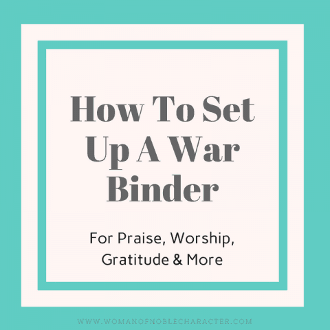 How I Set Up My War Binder
