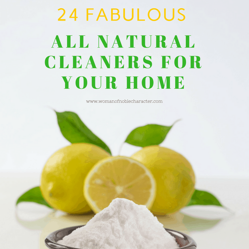 24 FABULOUS ALL NATURAL CLEANERS FOR YOUR HOME