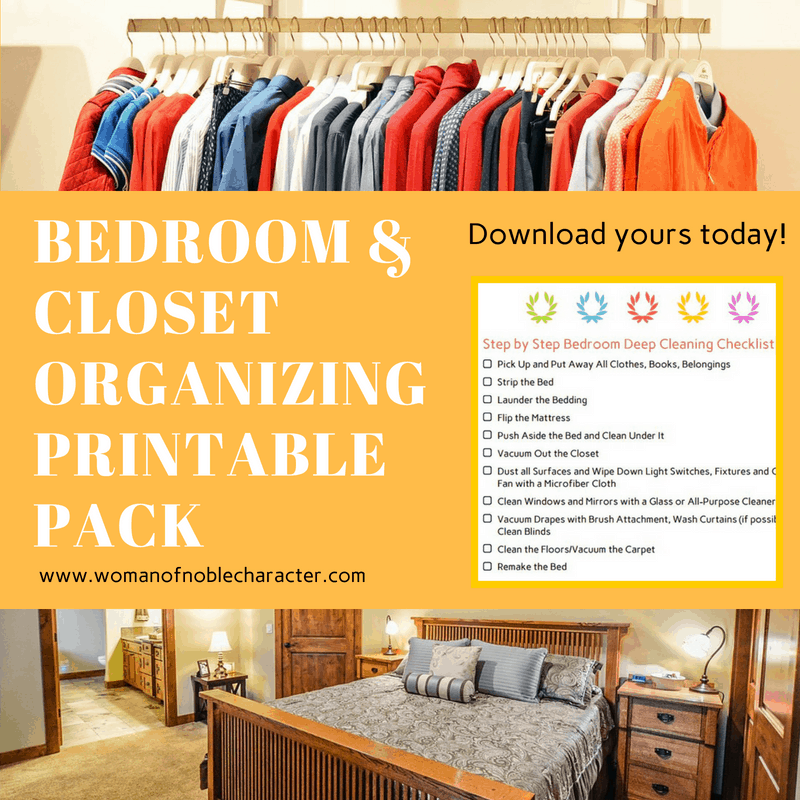 Bedroom and Closet Organizing Printable Pack