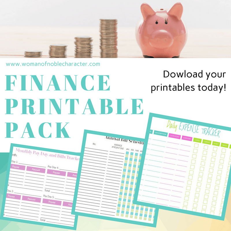 Finance Printable Pack