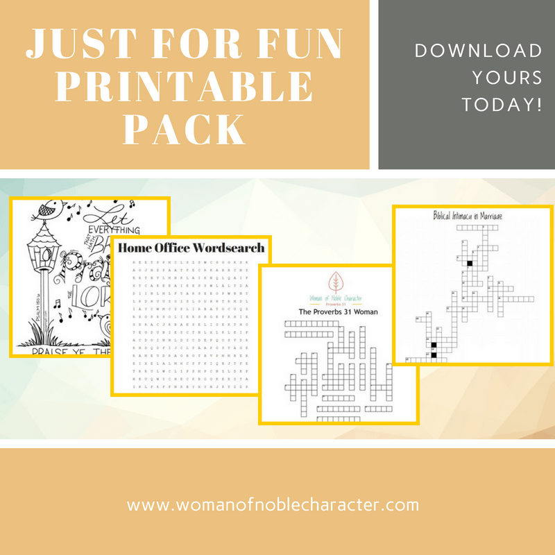 Just for fun Printable Pack