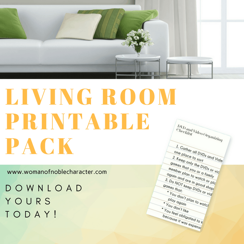 Living Room Printable Pack