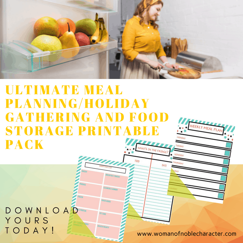 ULTIMATE MEAL PLANNINGHOLIDAY GATHERING AND FOOD STORAGE PRINTABLE PACK
