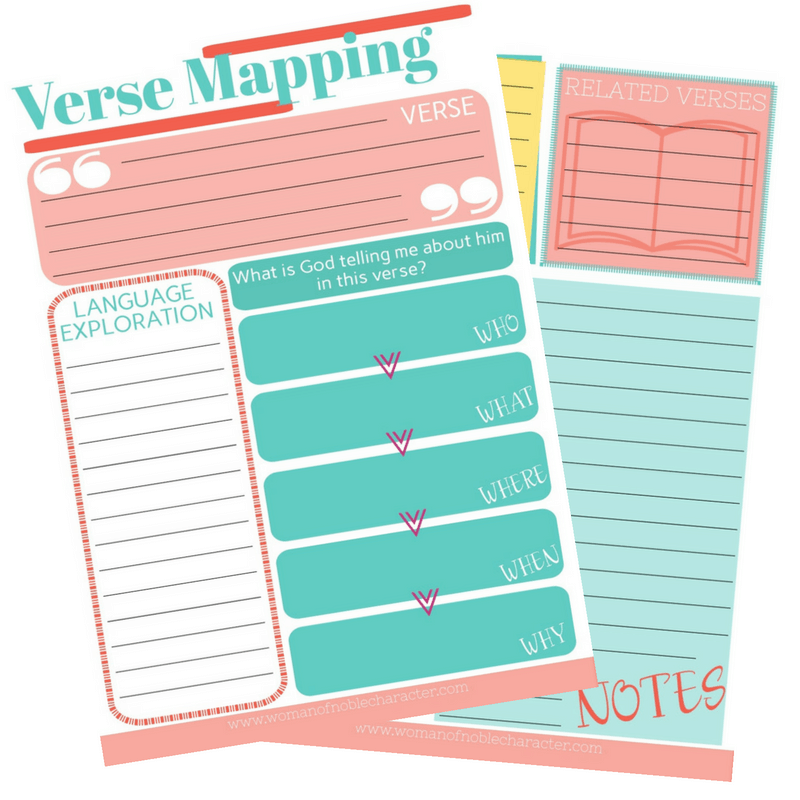 Verse Mapping Worksheets Free Printable