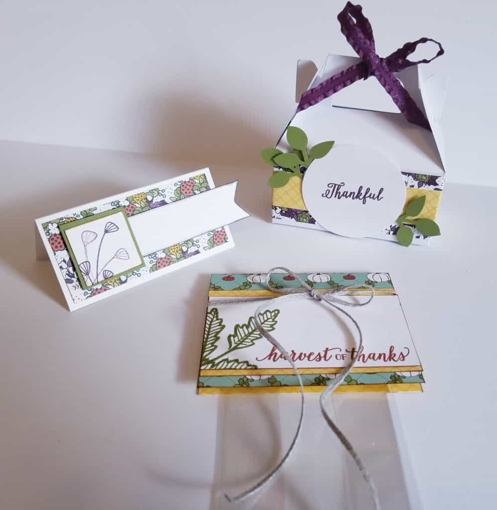 Thanksgiving Placecards and treat holders