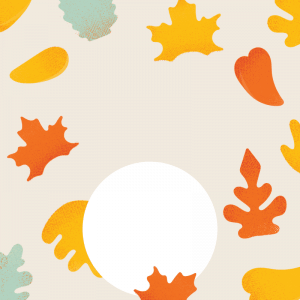 Leaves Thanksgiving placecard