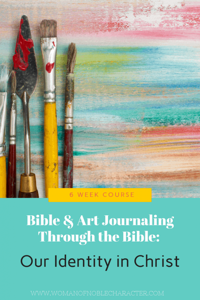 Our Identity in Christ Bible journaling art journaling
