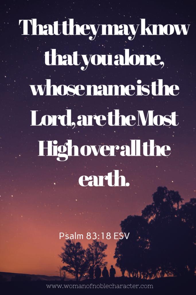 Adonai Psalm 83_18 Names of God