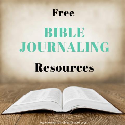 Free Bible Journaling Resources