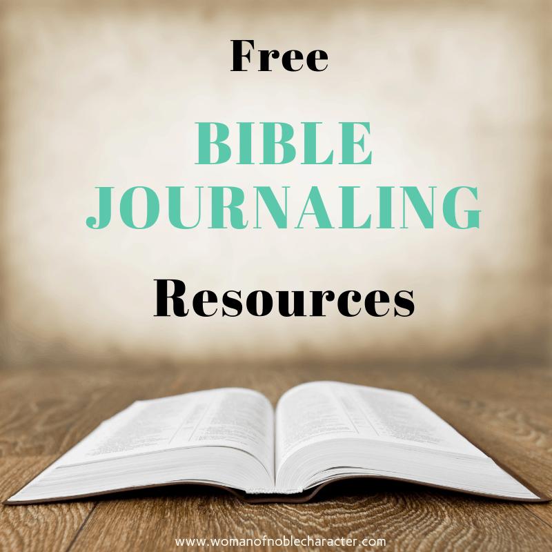 Free Bible Journaling Resources Bible Journaling Resources