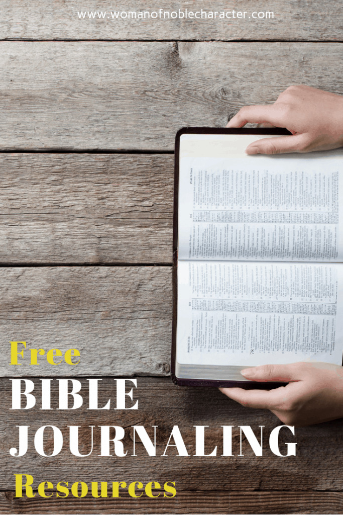 free Bible journaling resources