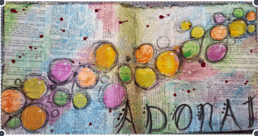 adonai names of God Bible journaling Art journaling