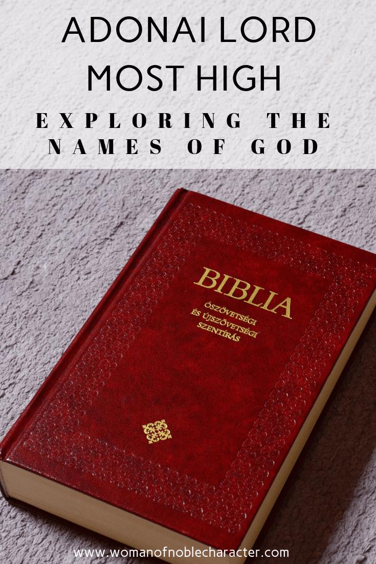 Adonai Lord Most High Exploring The Names Of God 1