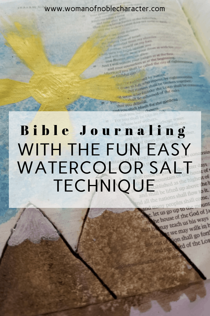 Bible Journaling With The Fun Easy Watercolor Salt Technique