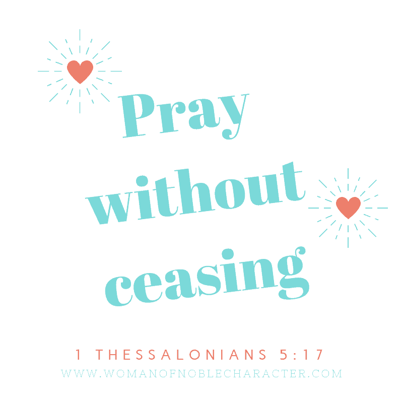 pray without ceasing - how to pray