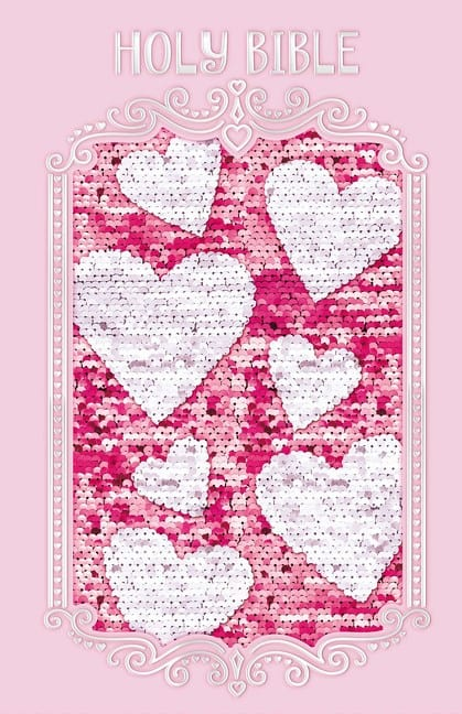 sparkle and change Bible cover pink