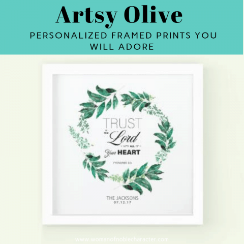 Artsy Olive Personalized Framed Prints You Will Adore 1