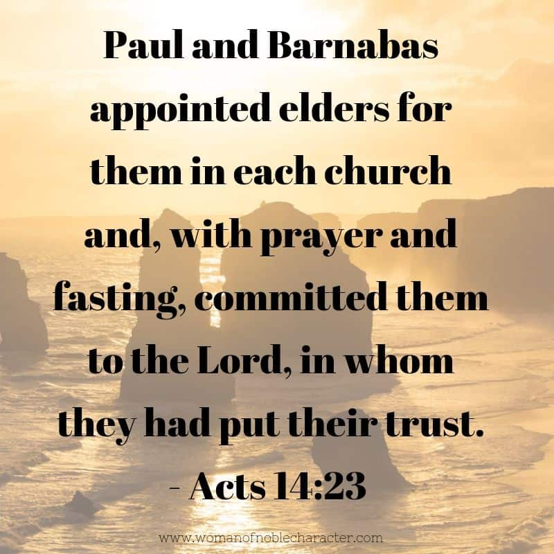 Types of fasting in the Bible Acts 14_23