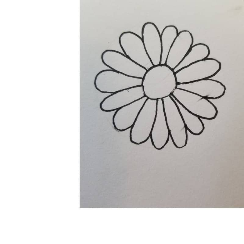 daisy- flowers for Bible journaling 1