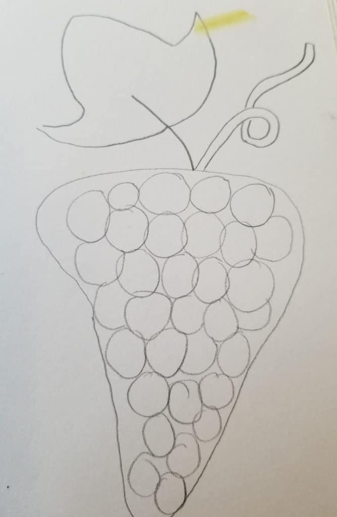 how to draw grapes in Bible journaling 3