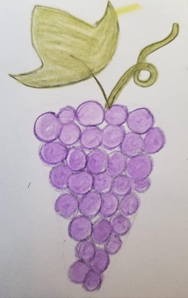 how to draw grapes in Bible journaling 5