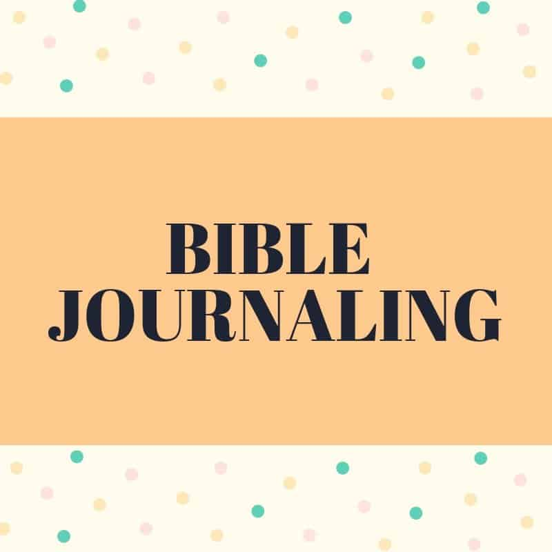Bible Journaling and creative worship