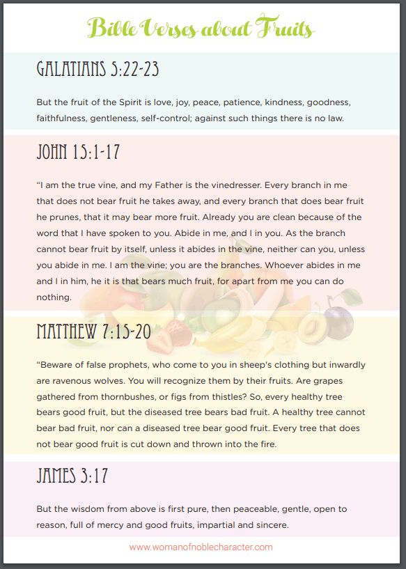 Bible verses about fruit