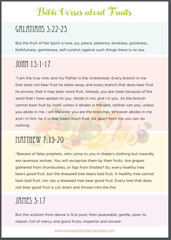 Bible verses about fruit