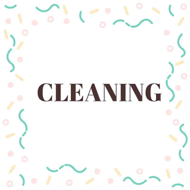 How to clean your home, cleaning resources and tools
