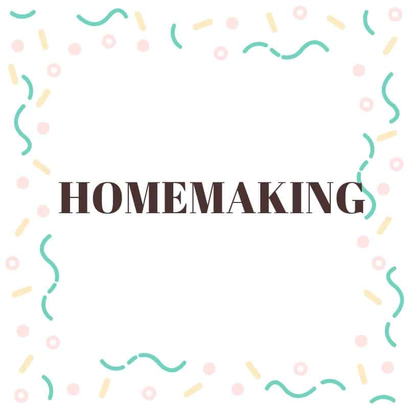Homemaking posts for the Christian wife and mother.