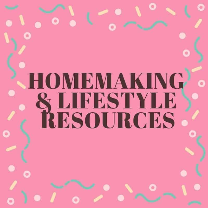 Resources, recommendations, printables and more for the Christian lifestyle and homemaking.