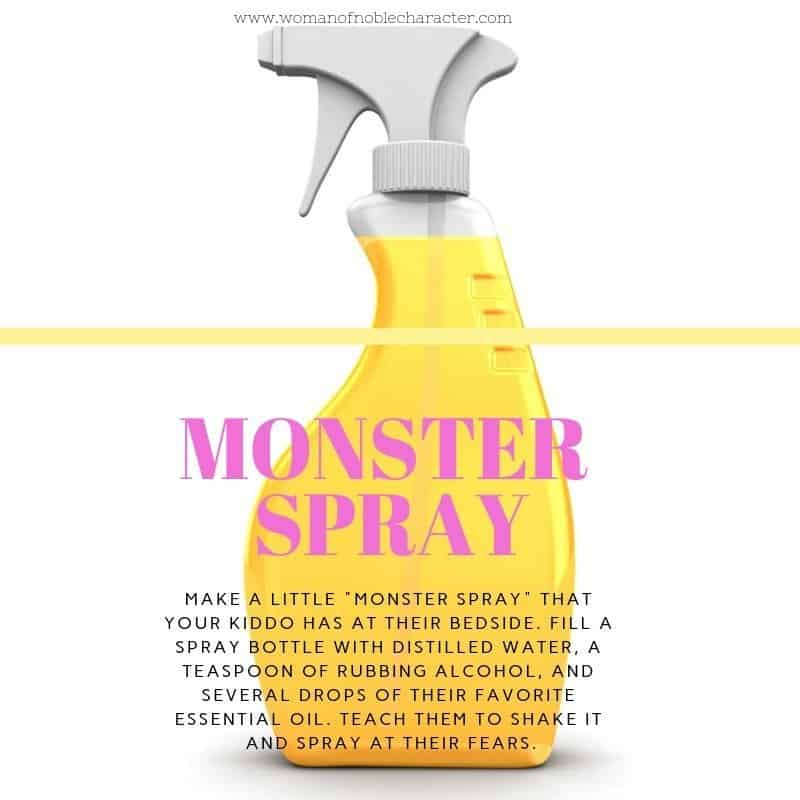 Monster Spray - helping your child with fears and anxiety