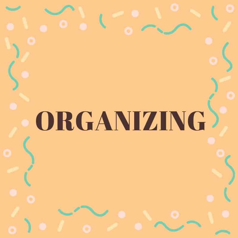 Organizing your home, office and life.