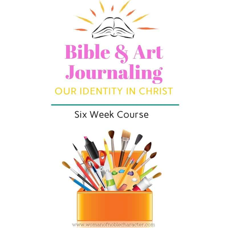 Bible journaling and art journaling course about our identity in Christ.