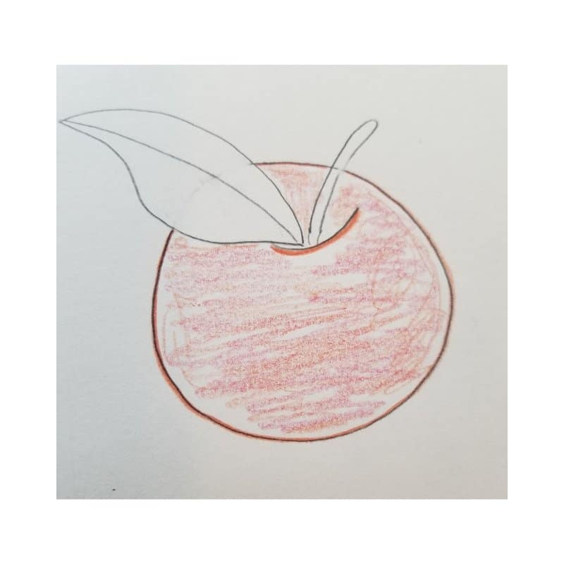 how to draw fruit in Bible journaling apple 4