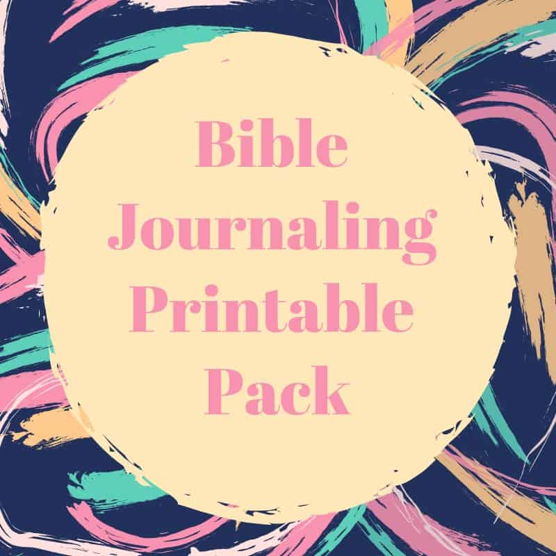 Bible journaling printable pack; printable images and verses for war binders, Bible journaling and more