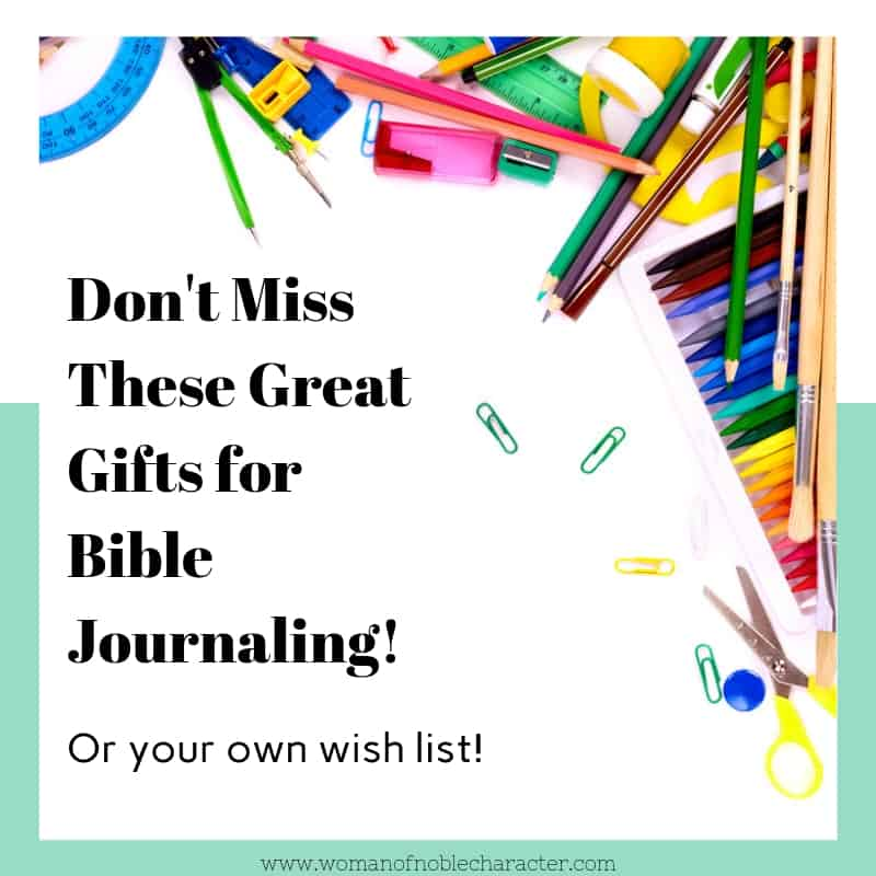 Great Gifts for Bible Journaling