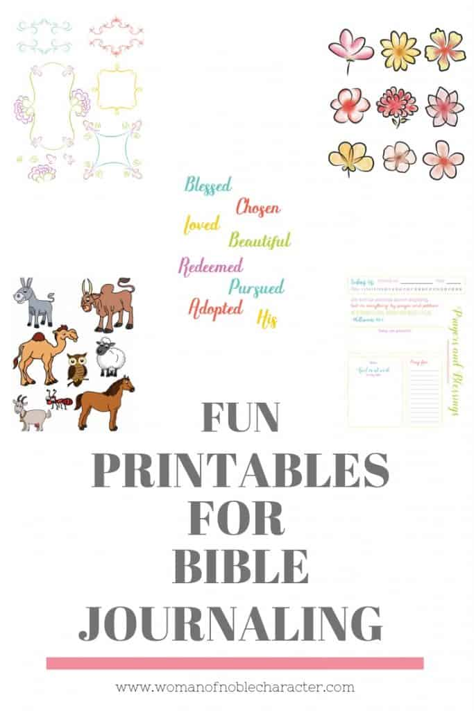 FUN PRINTABLES FOR BIBLE JOURNALING