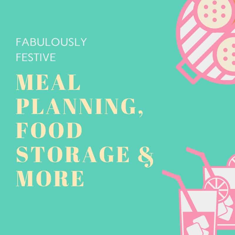 Meal planning, food storage, holiday shopping, holiday meal planning, hospitality, freezer