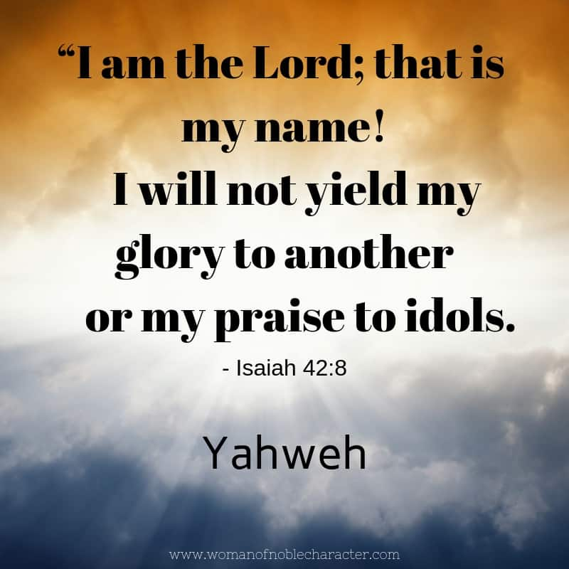 Yahweh, studying the names of God