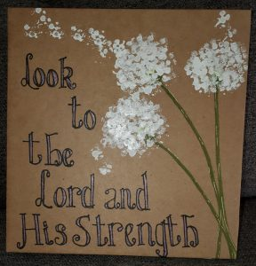 DIY Prayer journal cover painting with Q-tips