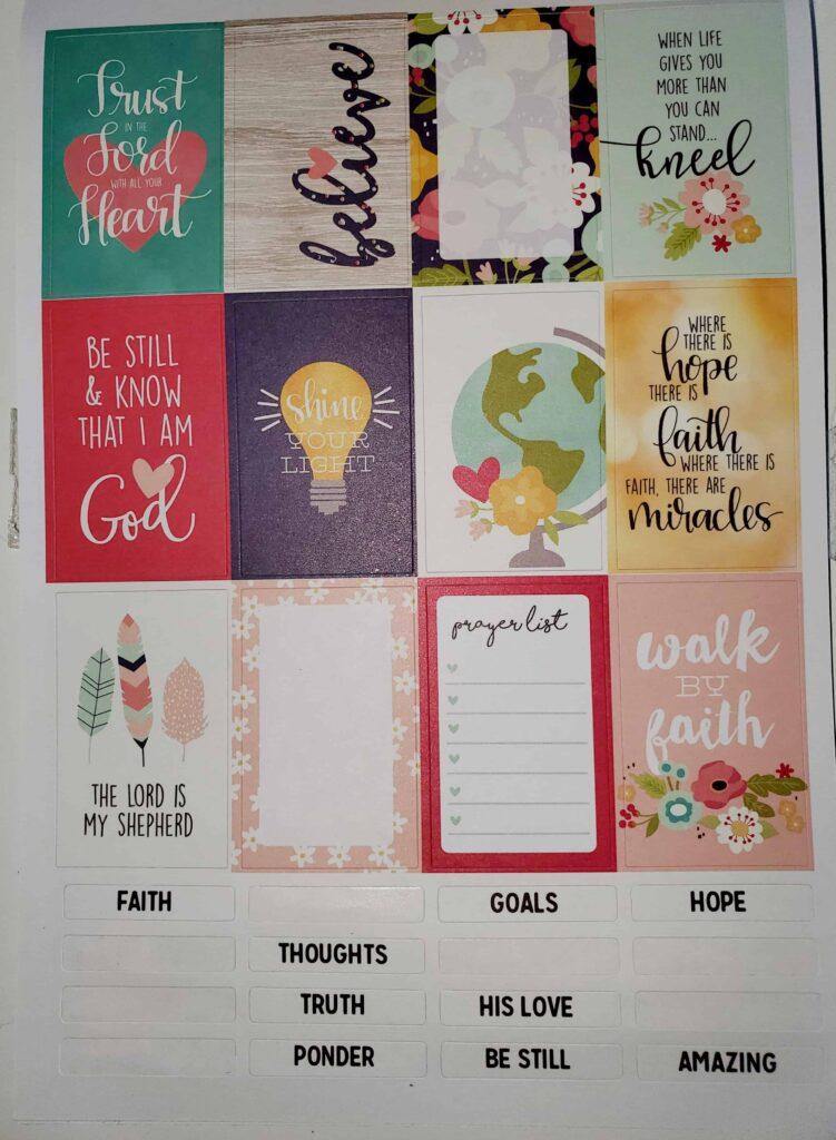 DIY prayer journal or war binder sticker sheet