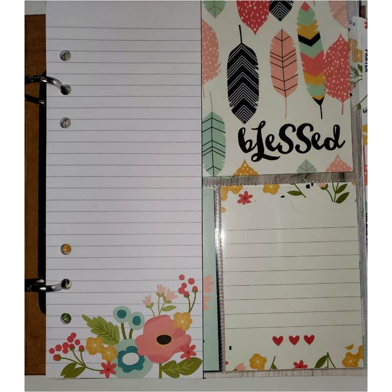 DIY Prayer journal with notepad insert