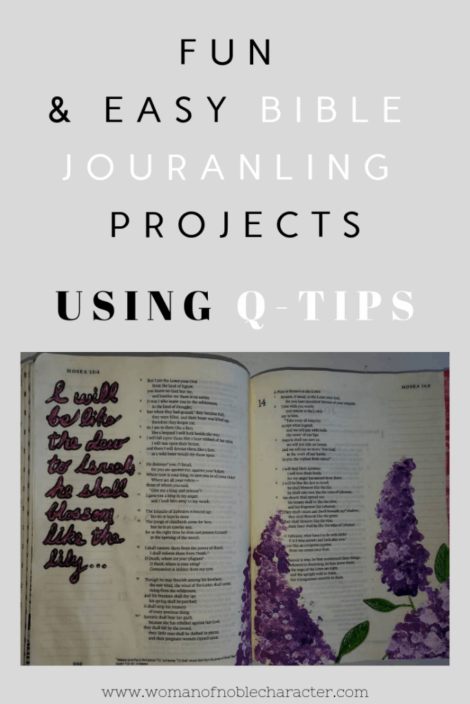 Fun & easy bible journaling projects using q-tips