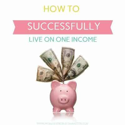 How to successfully live on one income