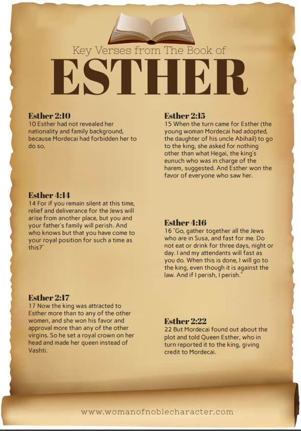 Key verses from the book of Esther