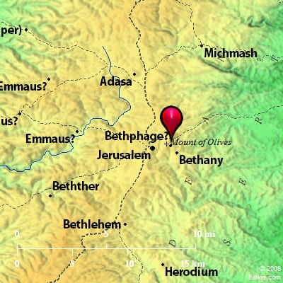 Bethany, where Martha in the Bible lived