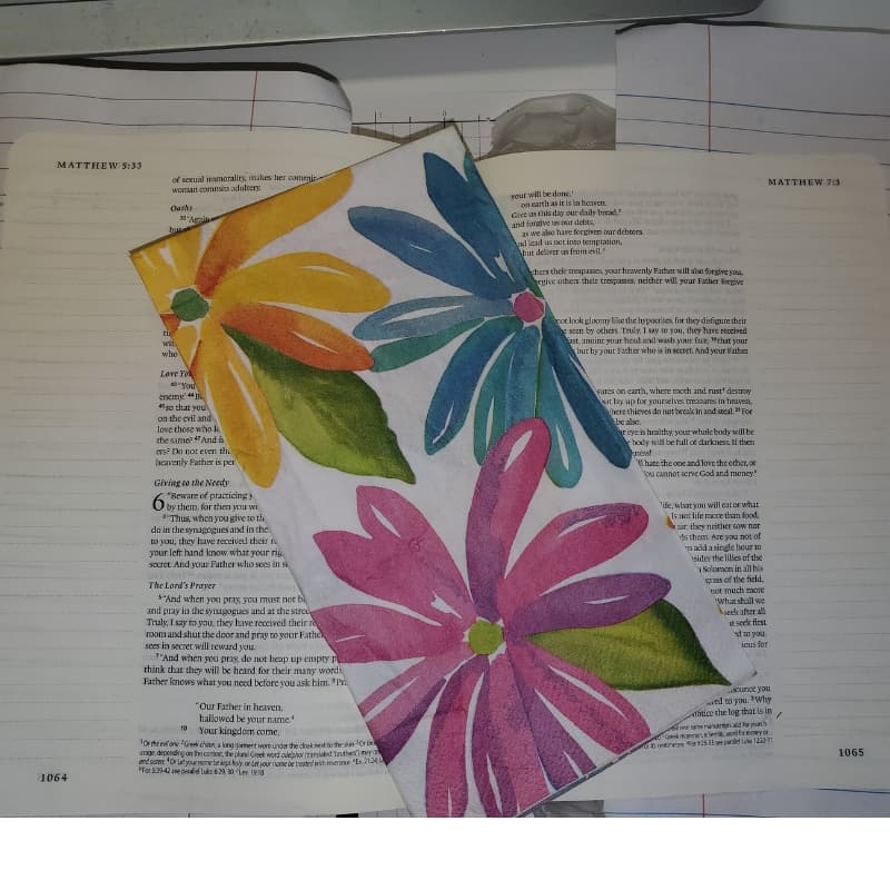 napkin decoupage Bible journaling